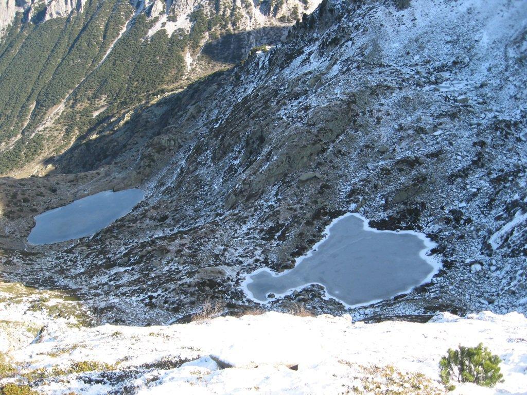 Laghi del Frisson dalla cima