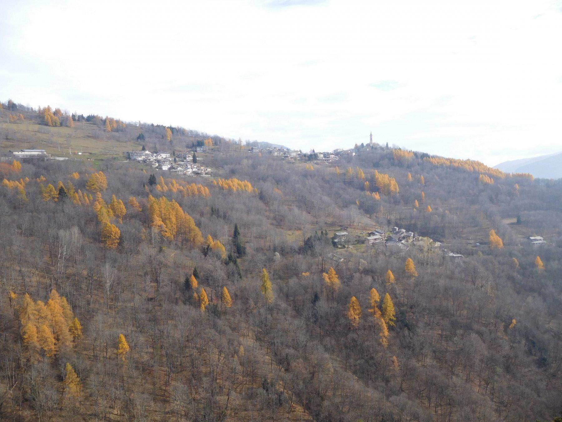 panorama sulle varie borgate di Becetto
