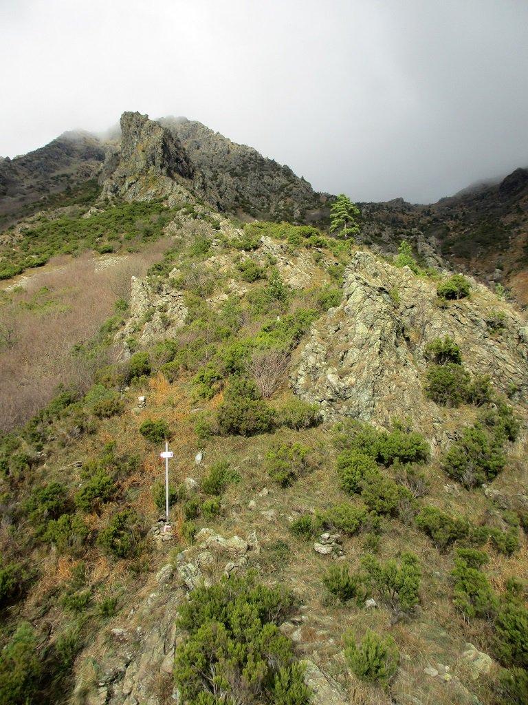La via Federici che sale al Corno Stella vista dal Roccione