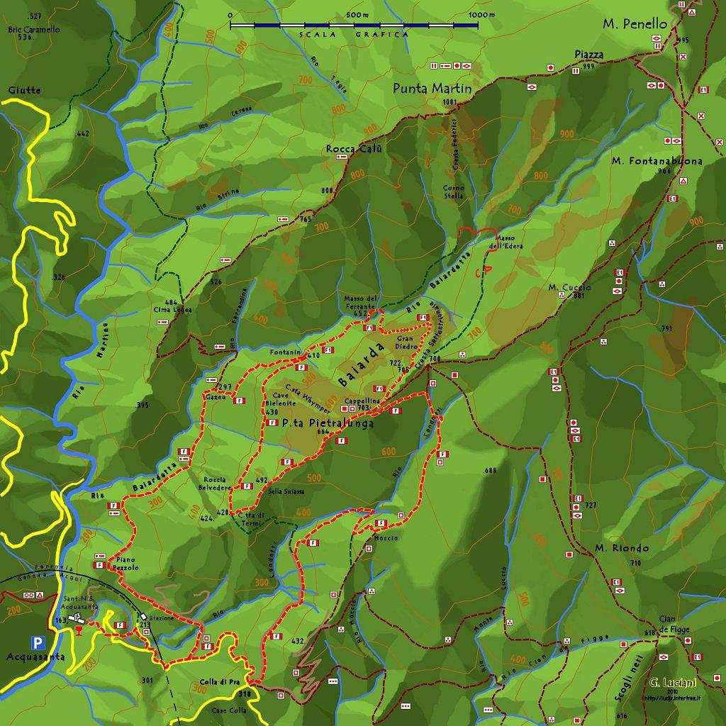 Cartina Martin con sentiero Frassati e Carlo Poggio