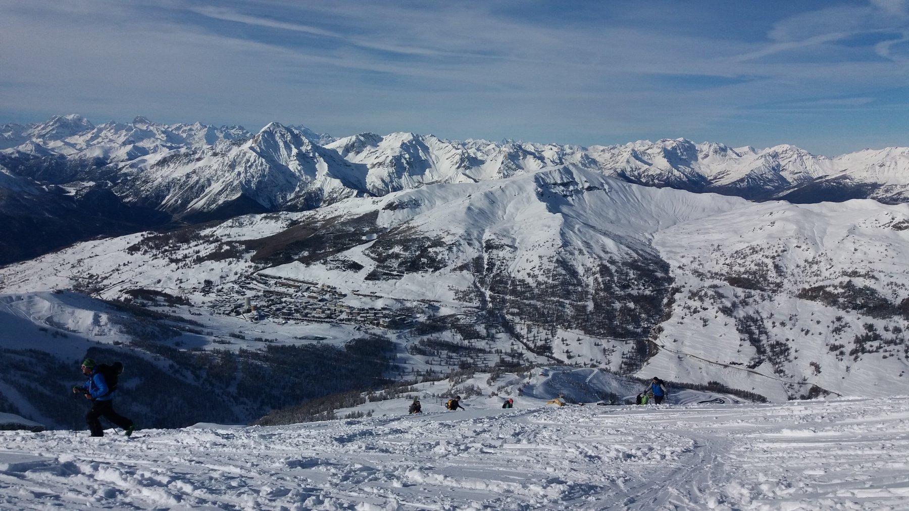 Dalla cima, panorama quasi invernale
