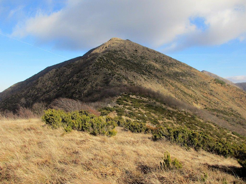 Parte bassa del crestone sud M. Tobbio