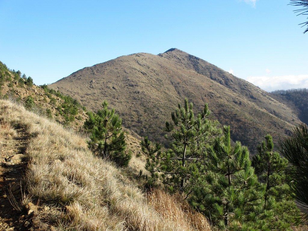 Cresta di Castiglione vista salendo al Tobbio