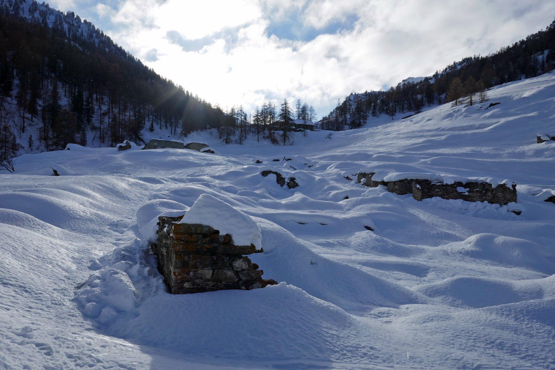 Paesaggio invernale al Chabaud