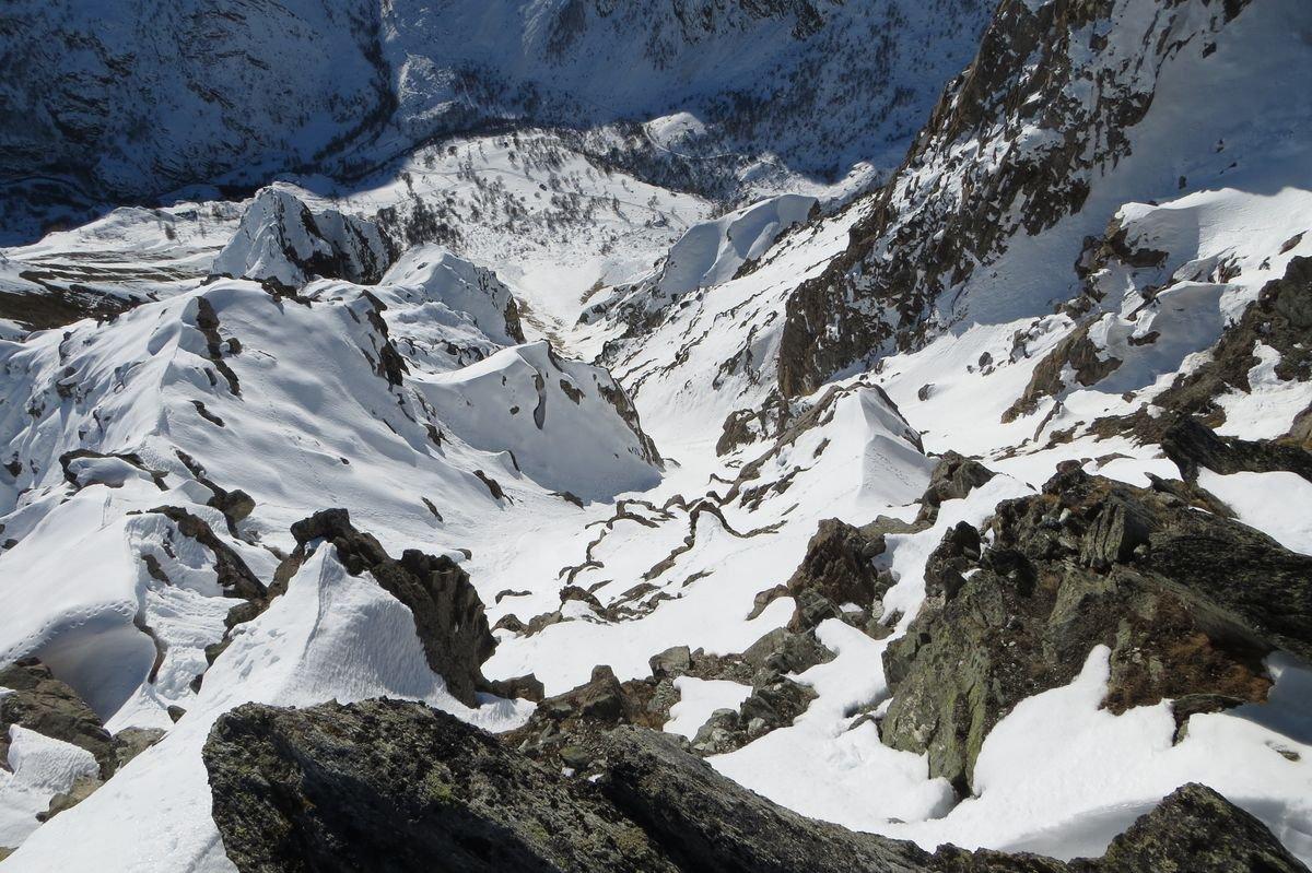 uscita di dx vista dalla cresta