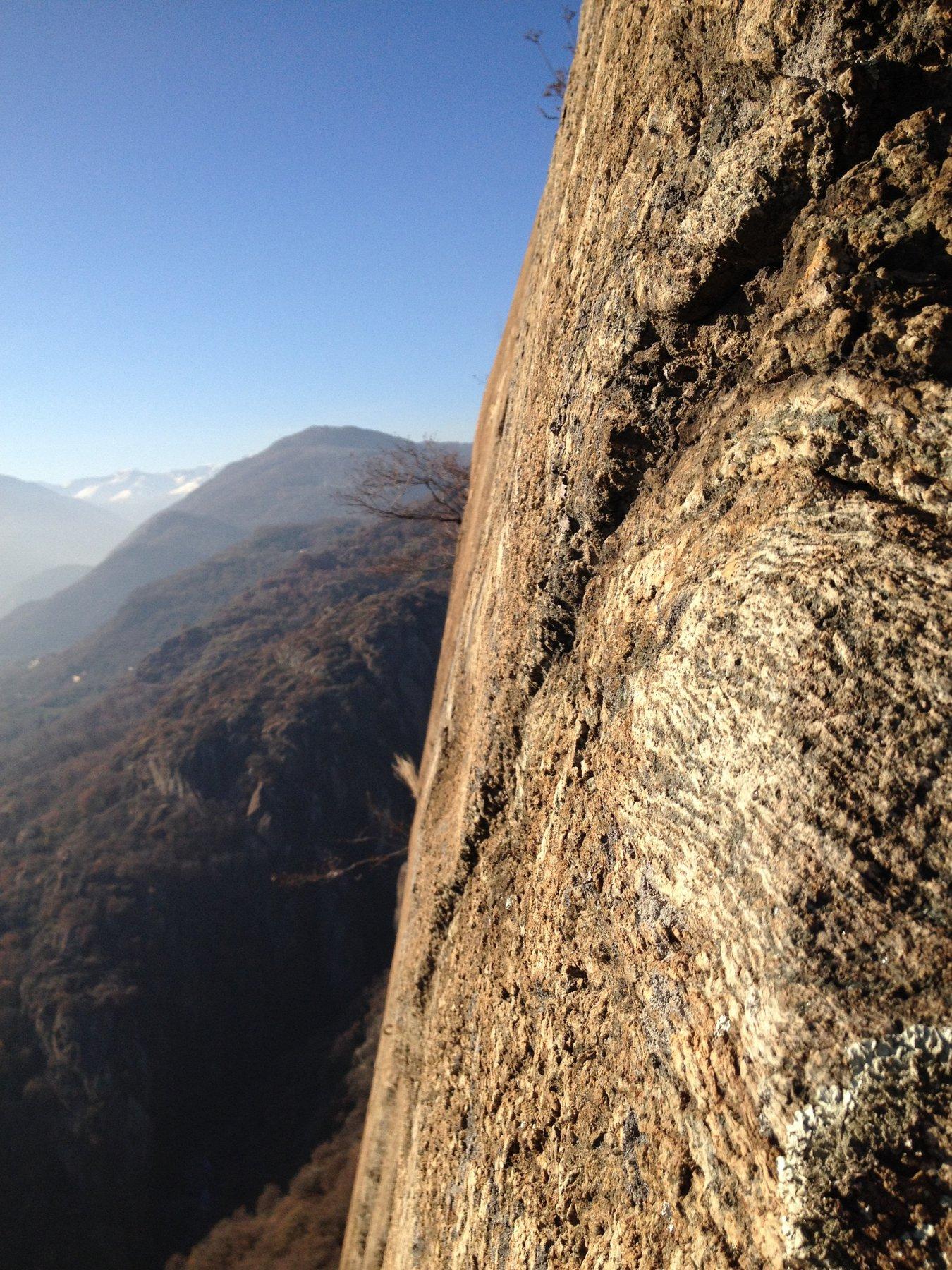 La verticalità della Rocca Bianca