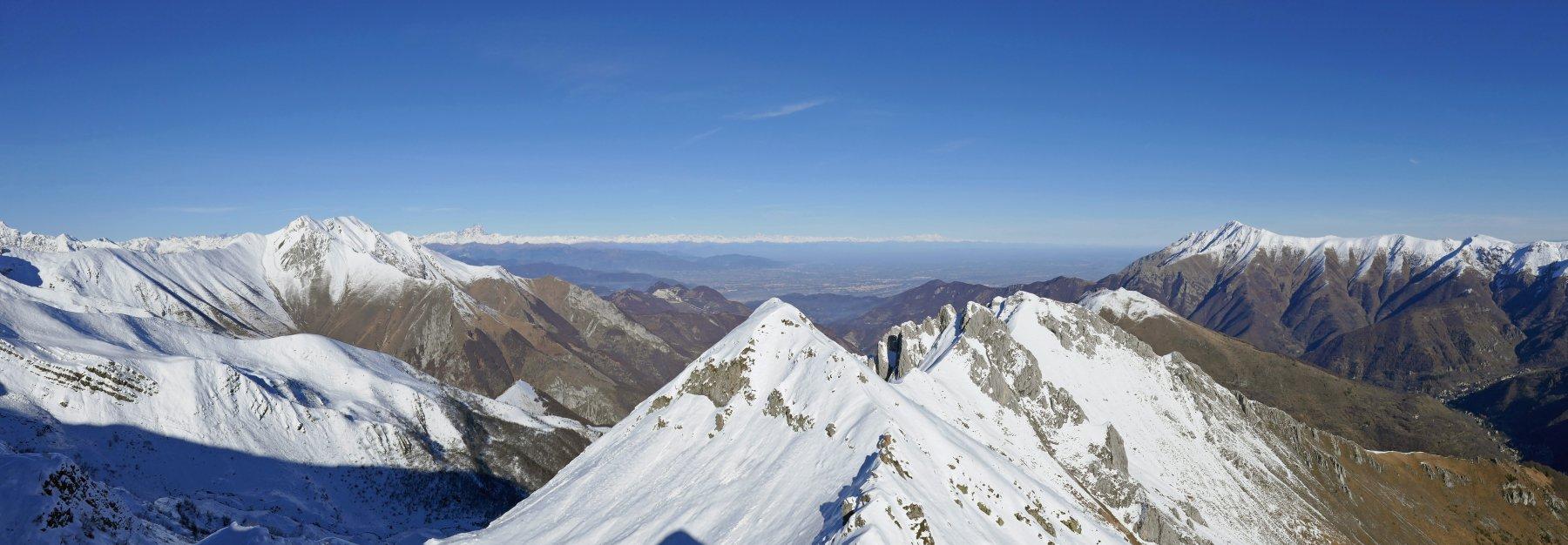 Panoramica dalla cima Giosolette