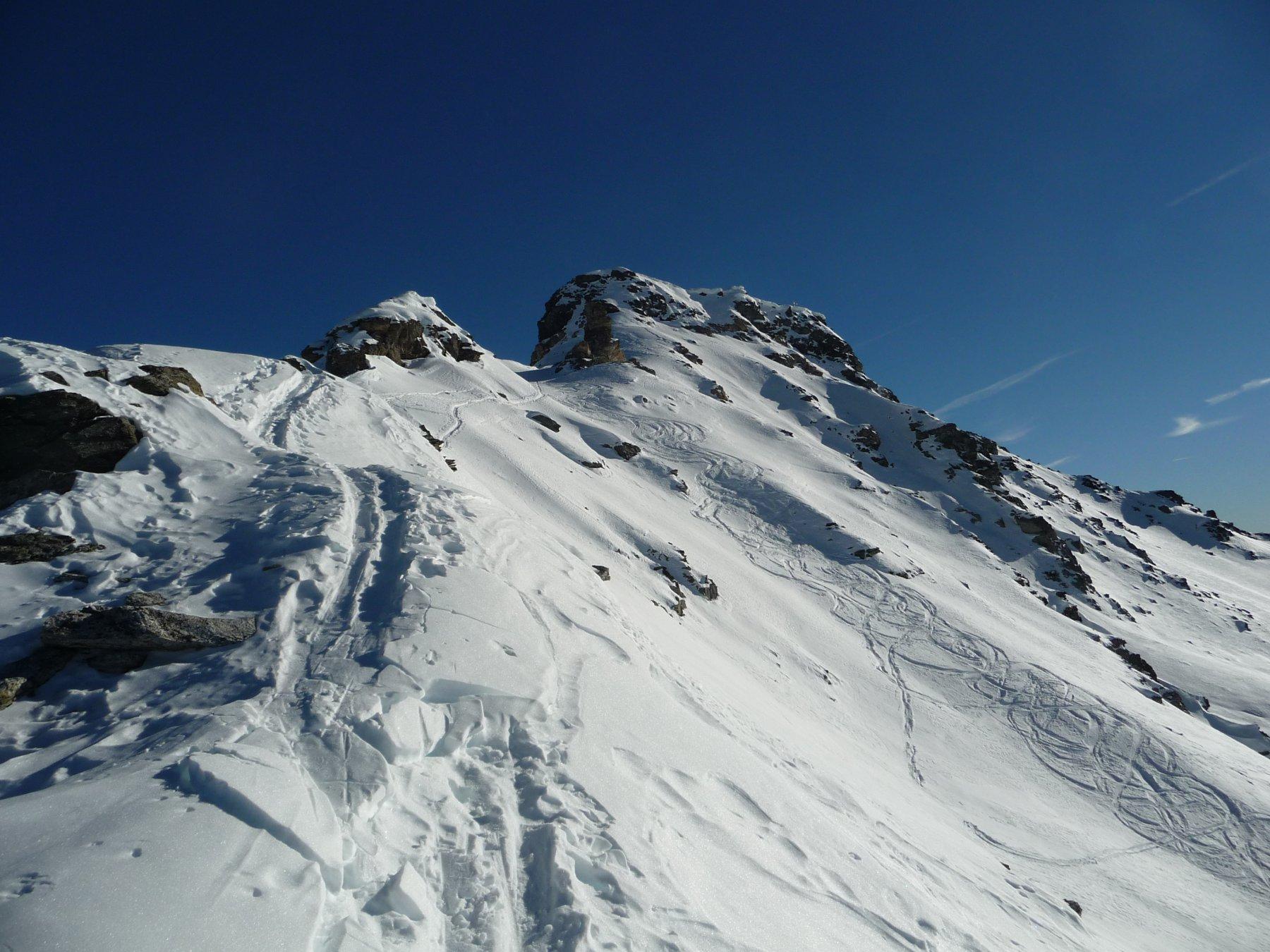 Nana (Bec di) o Falconetta da Saint Jacques per il Col di Nana 2016-12-08