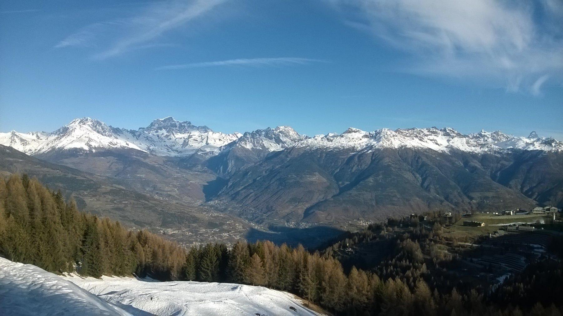 Vista sulla conca di Aosta