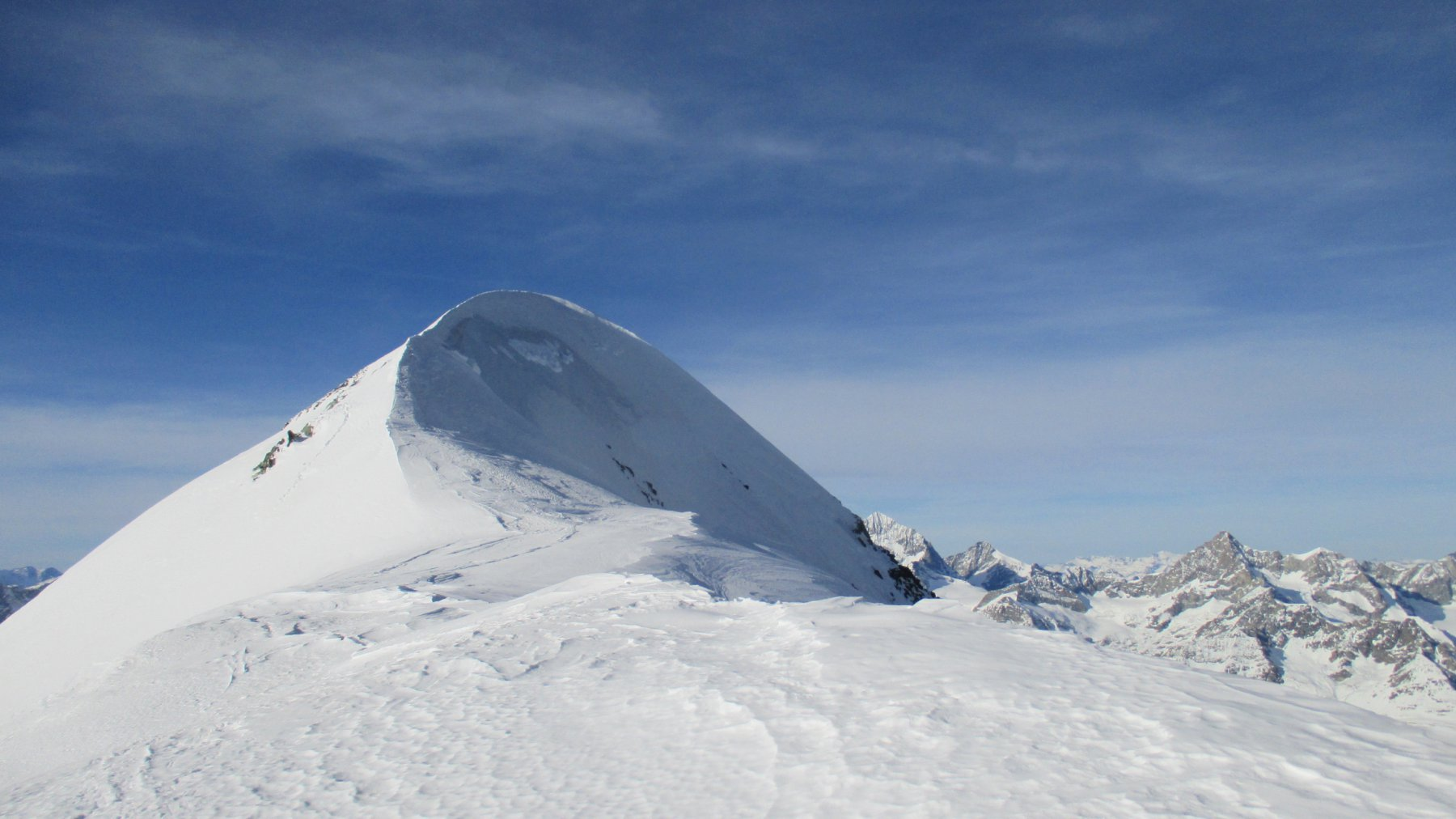 La cresta che porta all'Occidentale