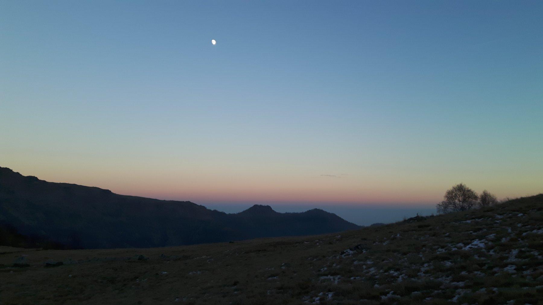 Tramonto dall'Alpe Cialma