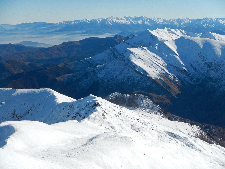 dalla cima: vista sull'alta Val Grana