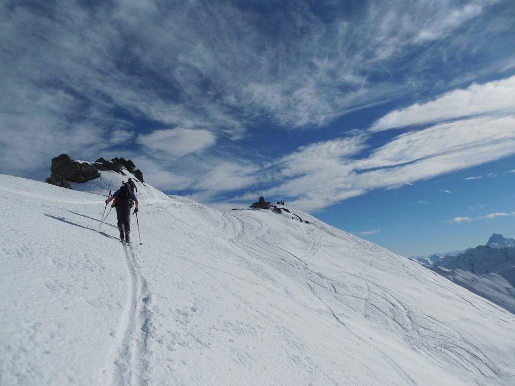 Foto Filippo Petrini verso la cima