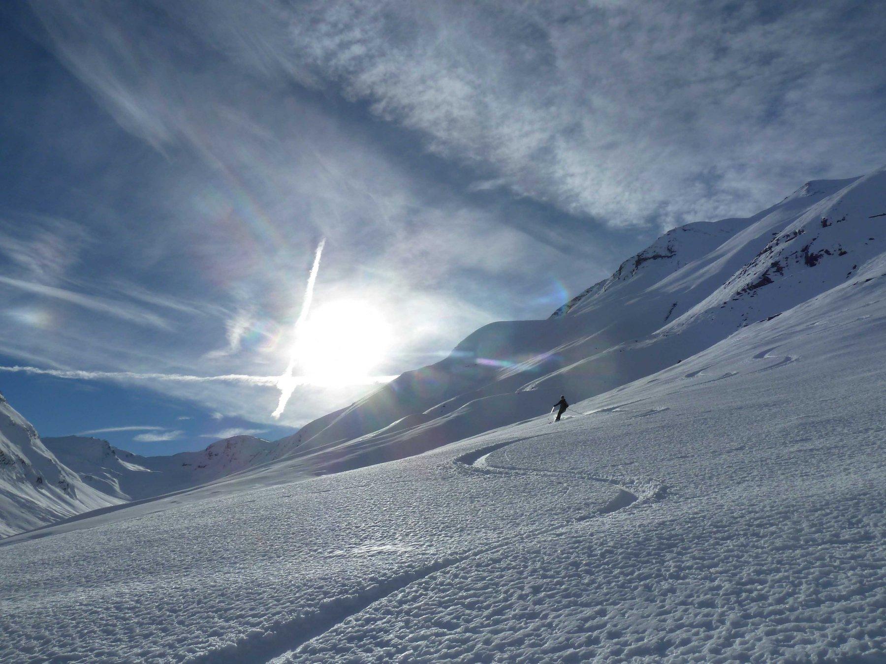 Bella neve anche in basso