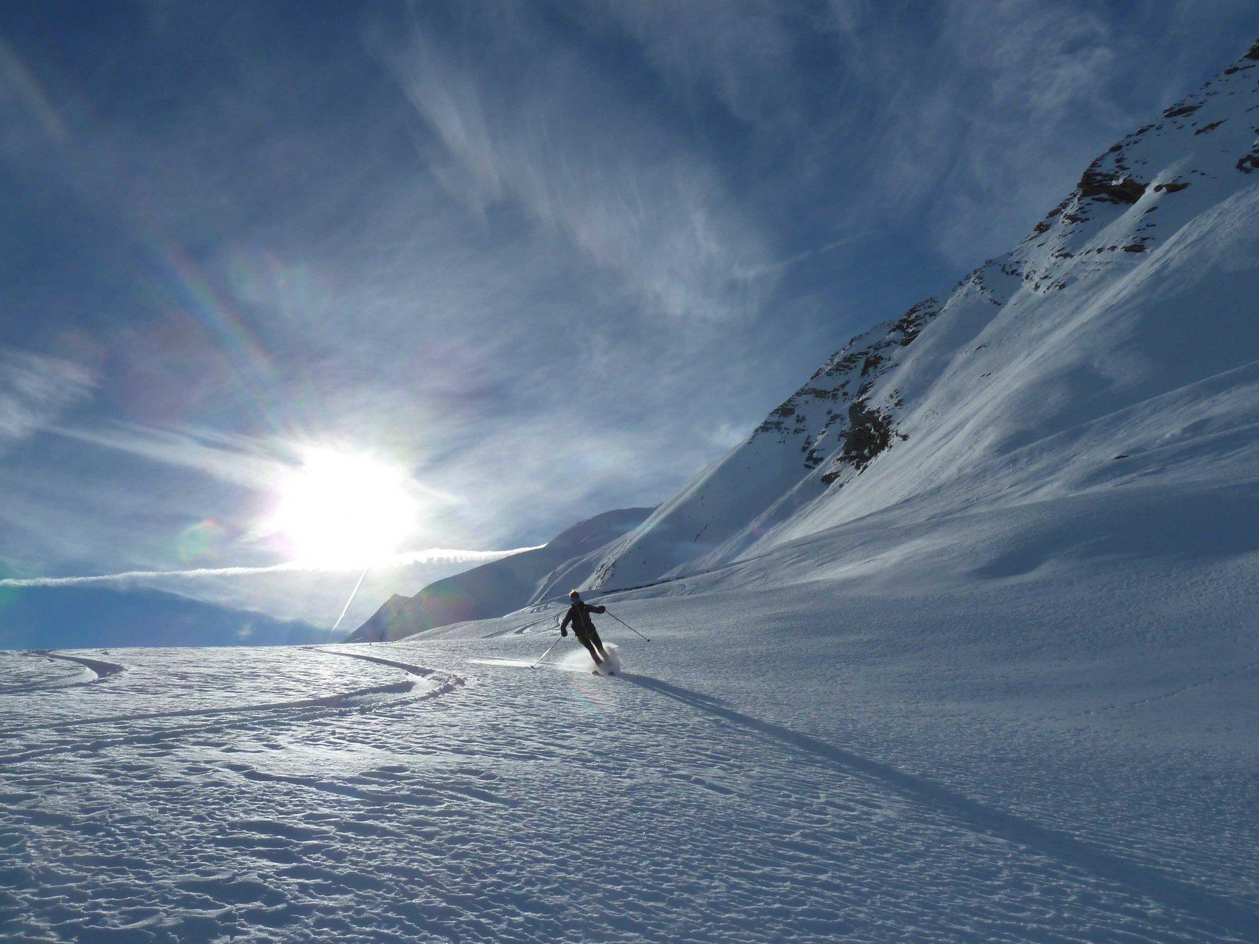 Parte centrale neve al top