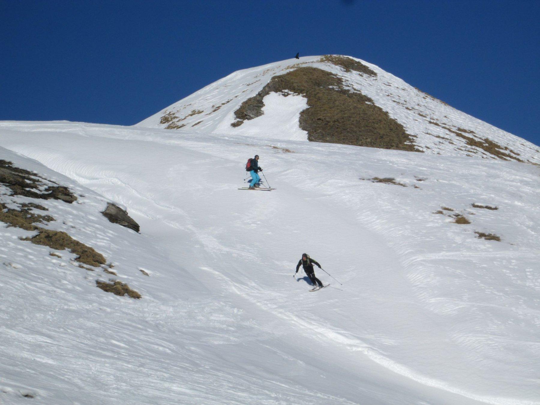 Fulvio e Bianca in discesa dopo la salita fino a circa 3000 metri