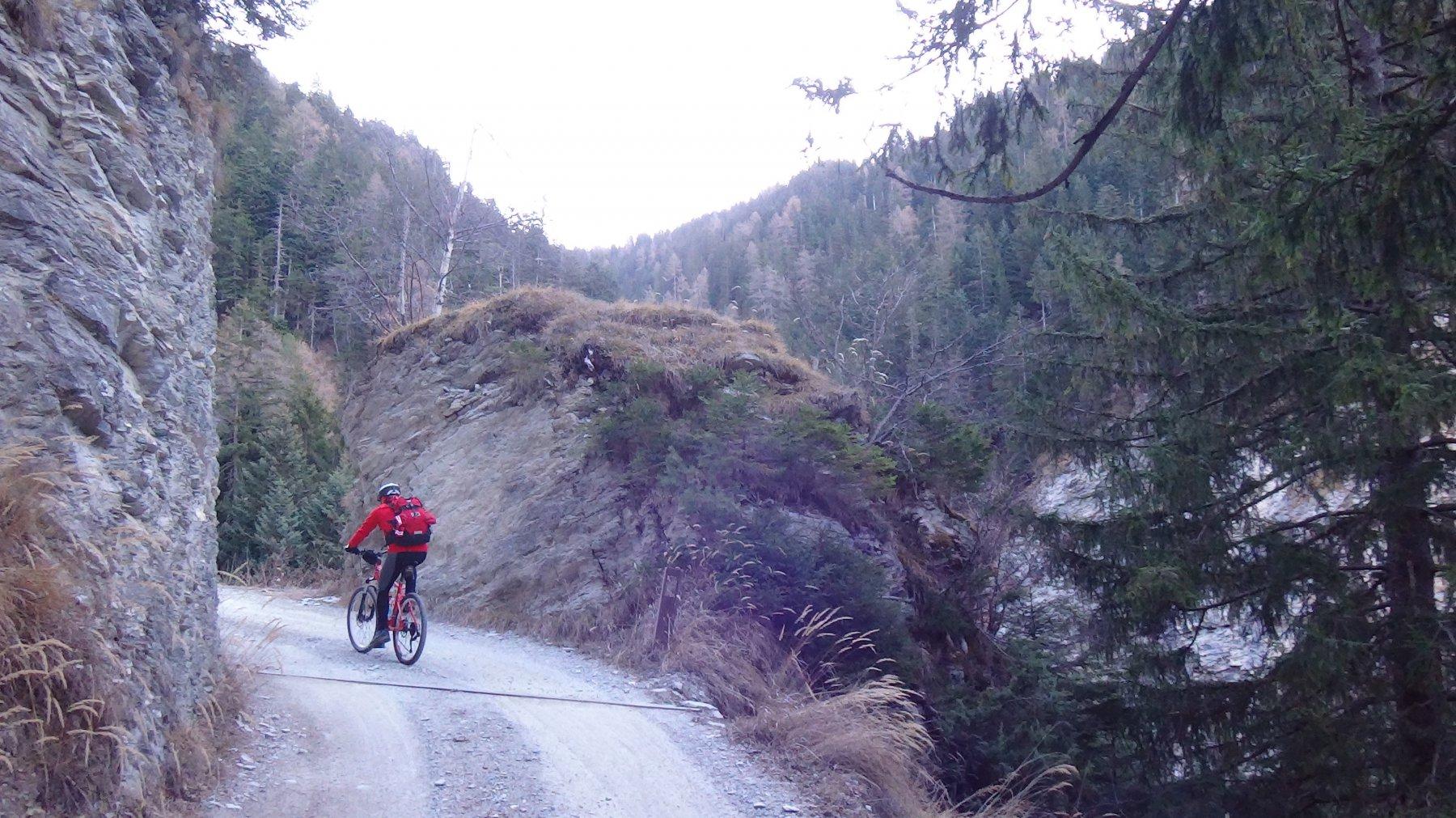 Roccia scavata sui 1200m