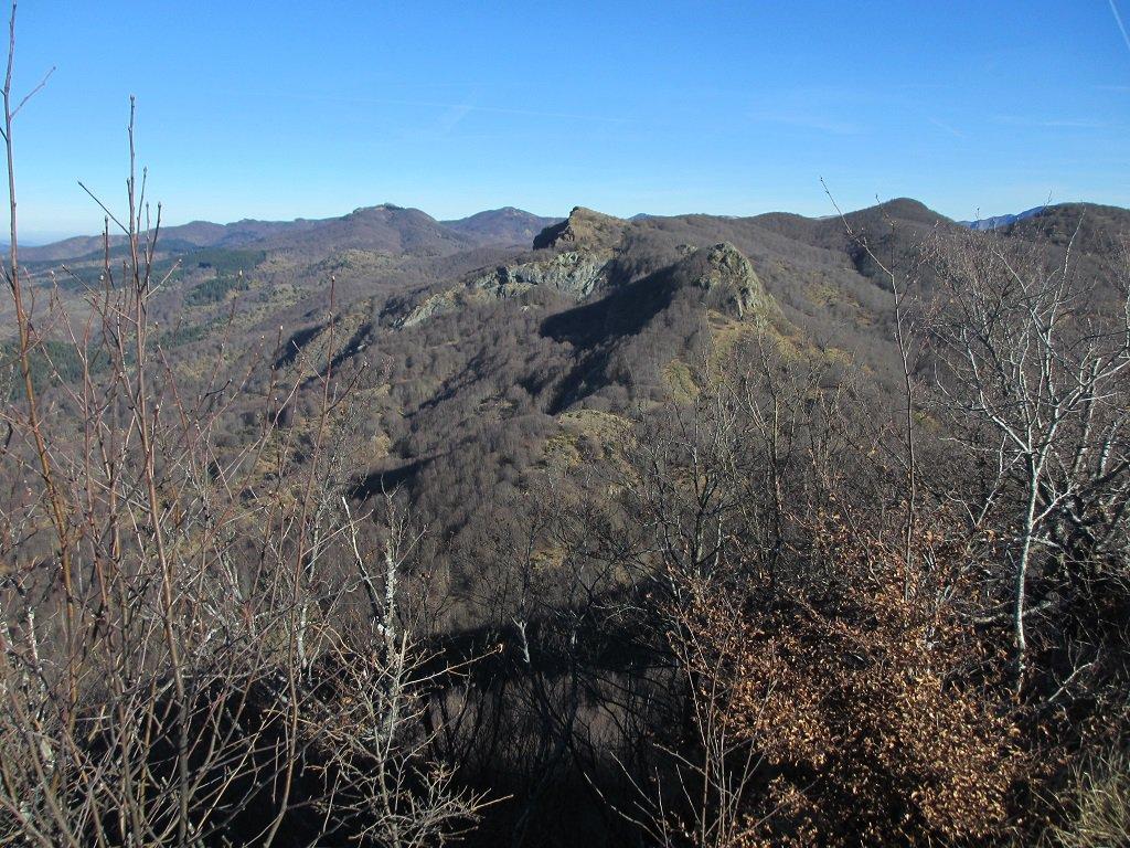 Il M.Gifarco e il Roccabruna visti dal Castello Fante
