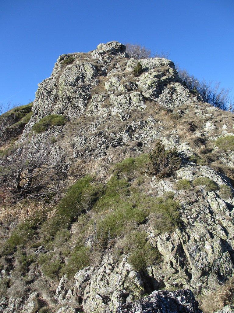Roccette prima della cima Castello Fante