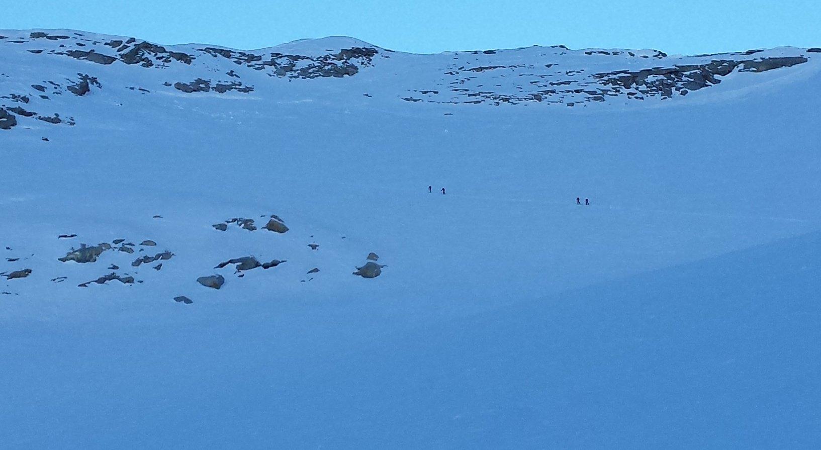 scialpinisti verso il Grand Etret