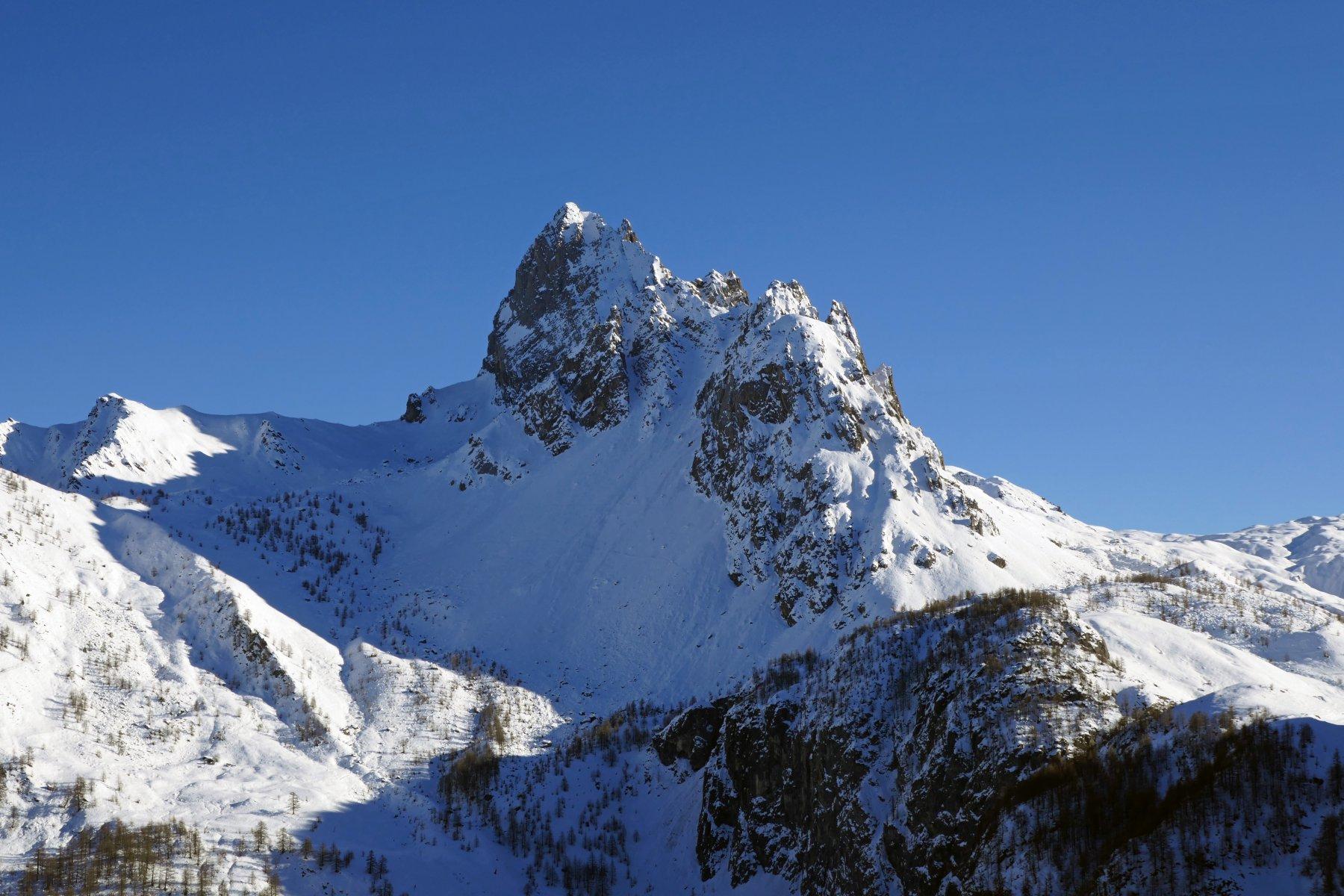 La parte nord della Rocca la Meja