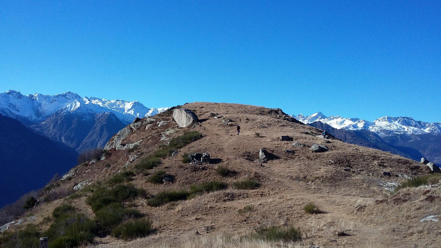 la cresta e il panorama