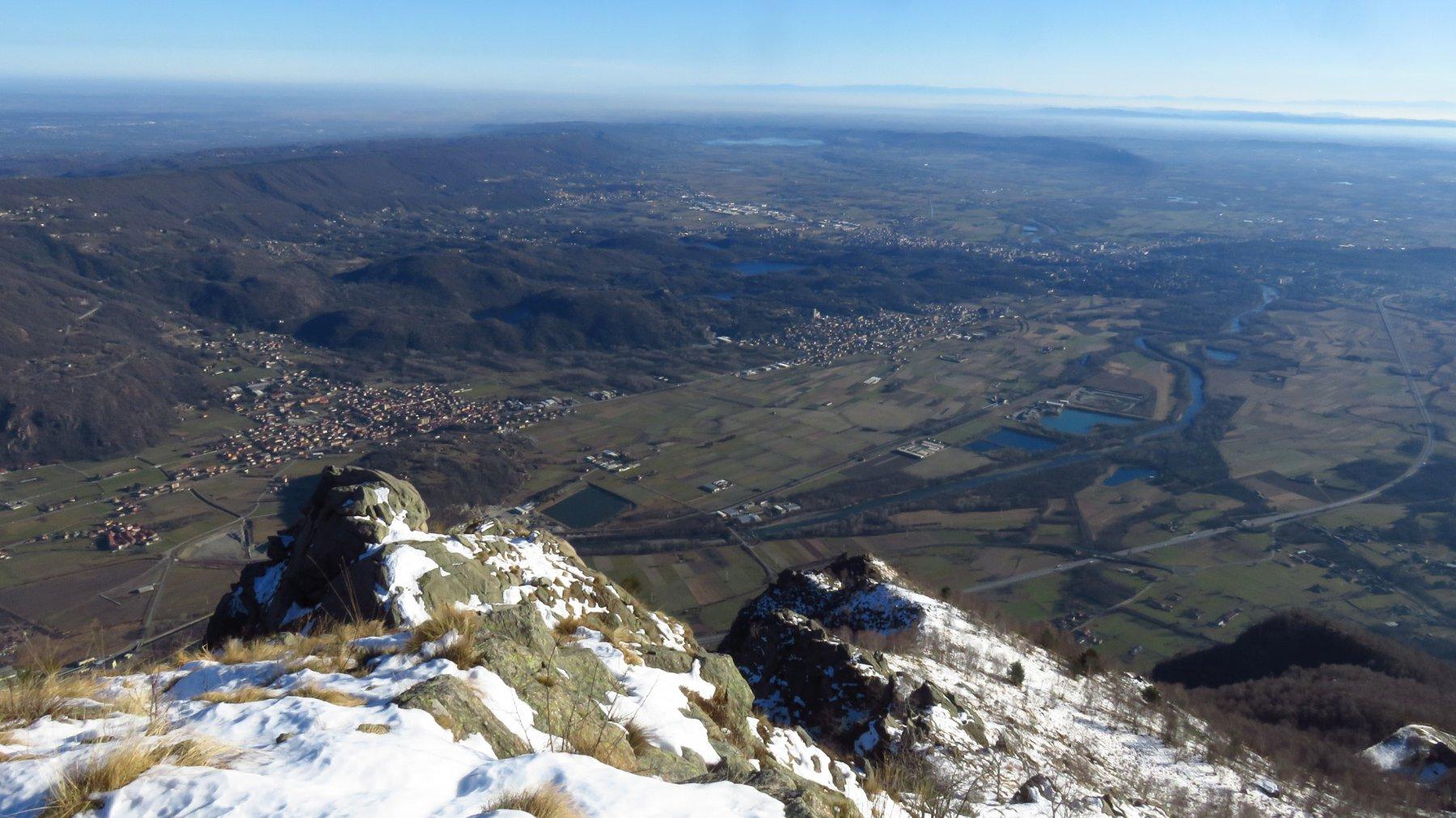Dal Cavallaria, panorame sulla Pianura