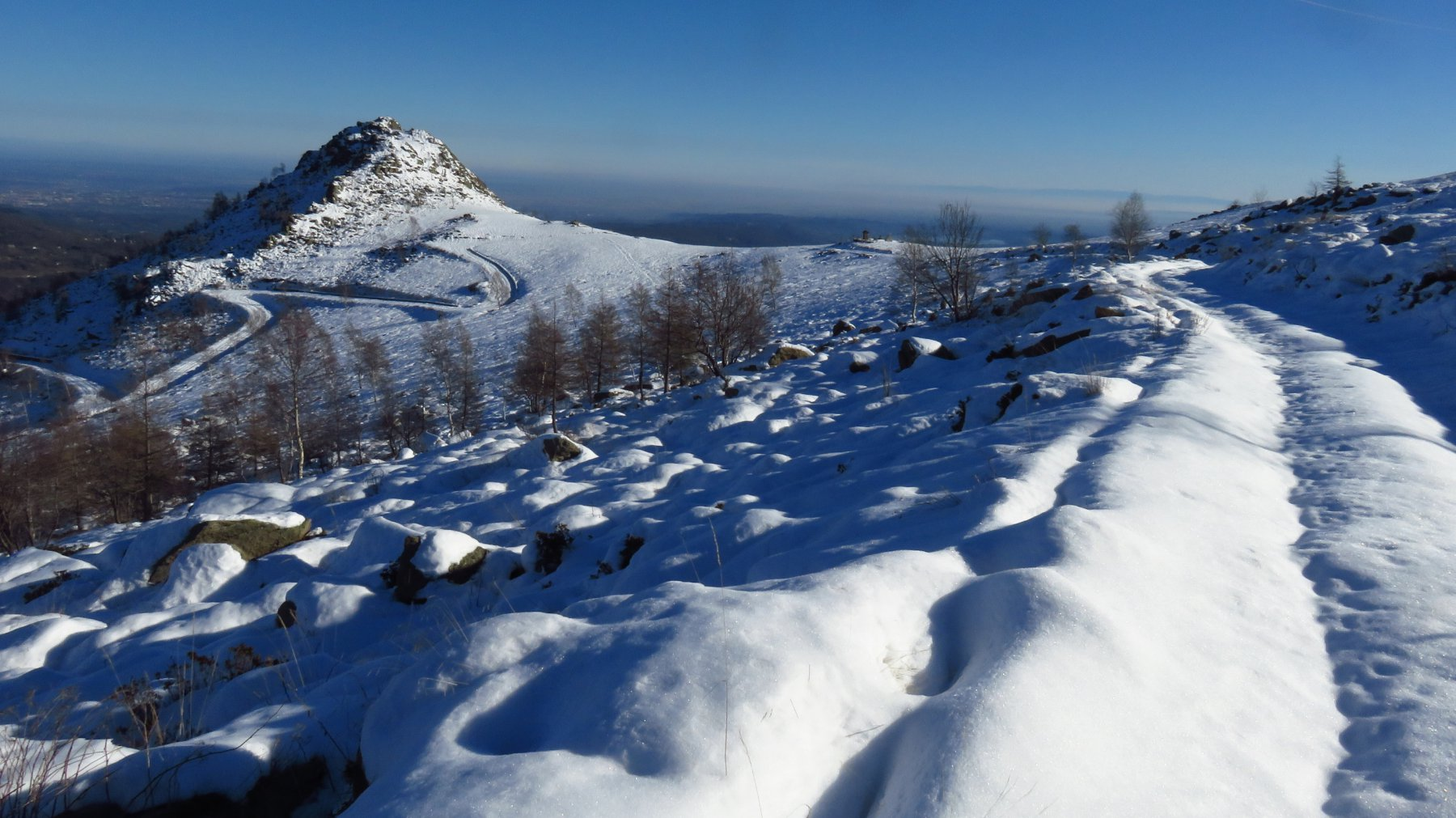 In discesa al Monte Cavallaria