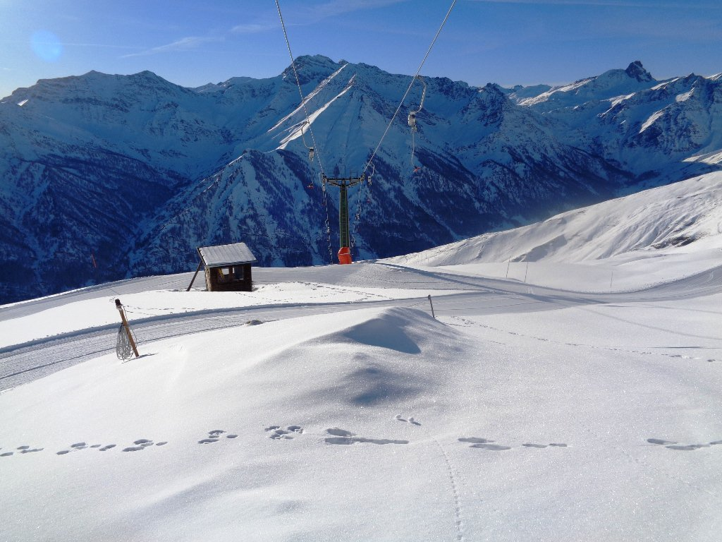 arrivo skilift Savaresch a 2730m