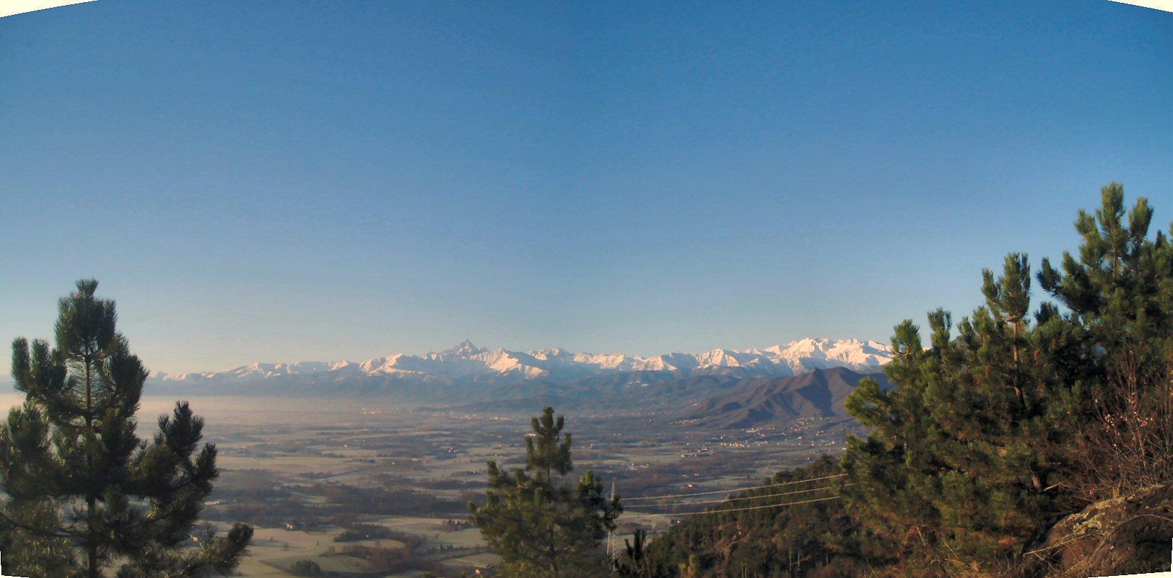 Panorama con Monviso