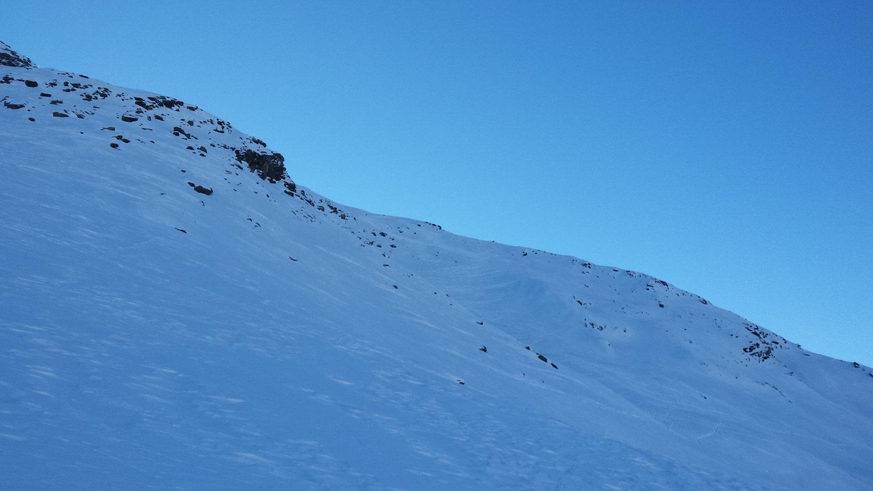 anche il pendio meridionale della punta sud è ben tracciato