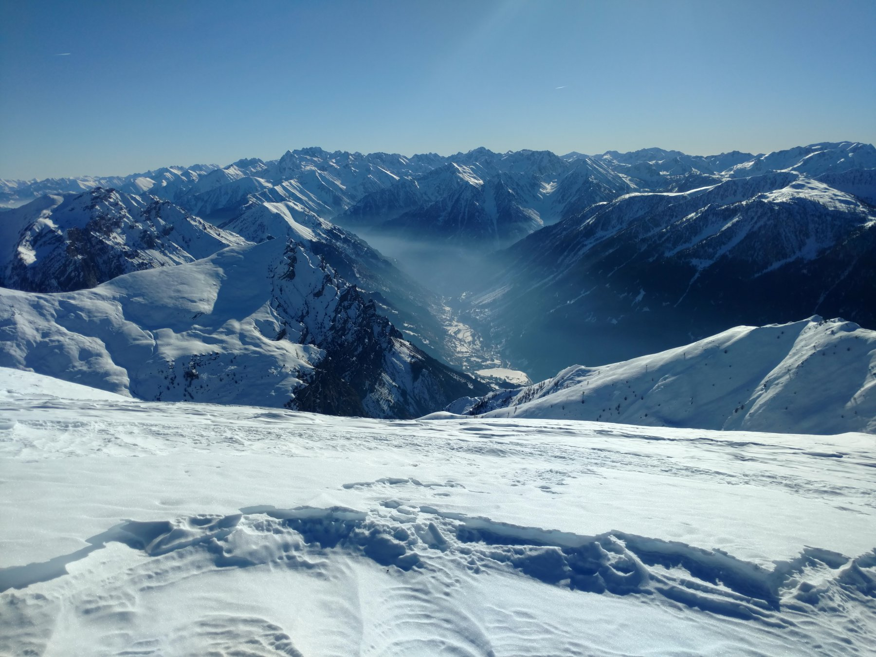 Valle Stura dalla cima