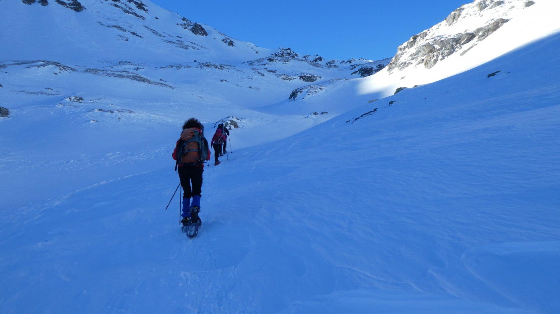salendo verso il Sirwoltesattel (che non va raggiunto, itinerario n. 2)