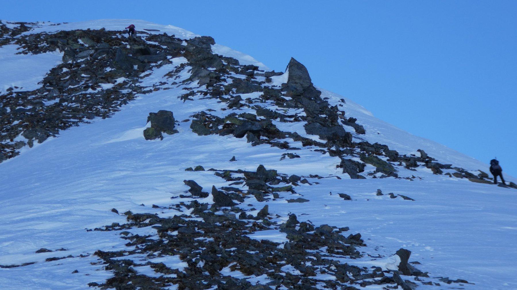 salendo lungo la cresta Nord del Sirwoltehorn...03