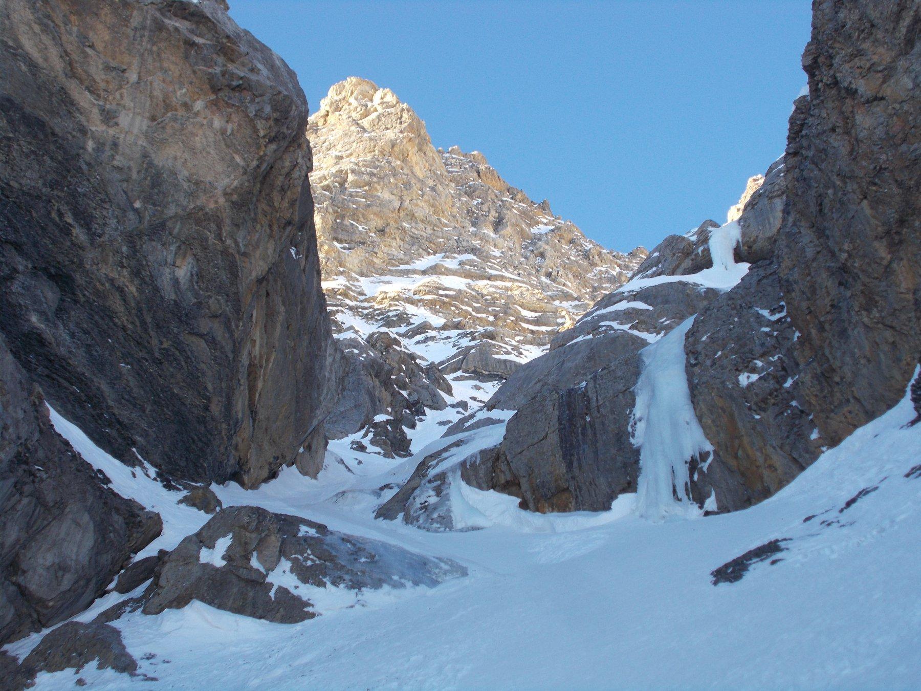 strozzatura a monte della Pinna..