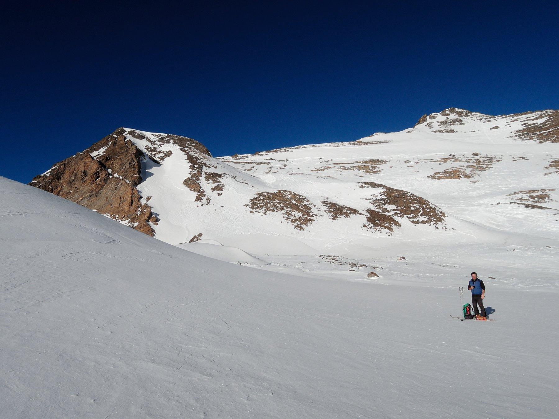 Pendii finali con poca neve