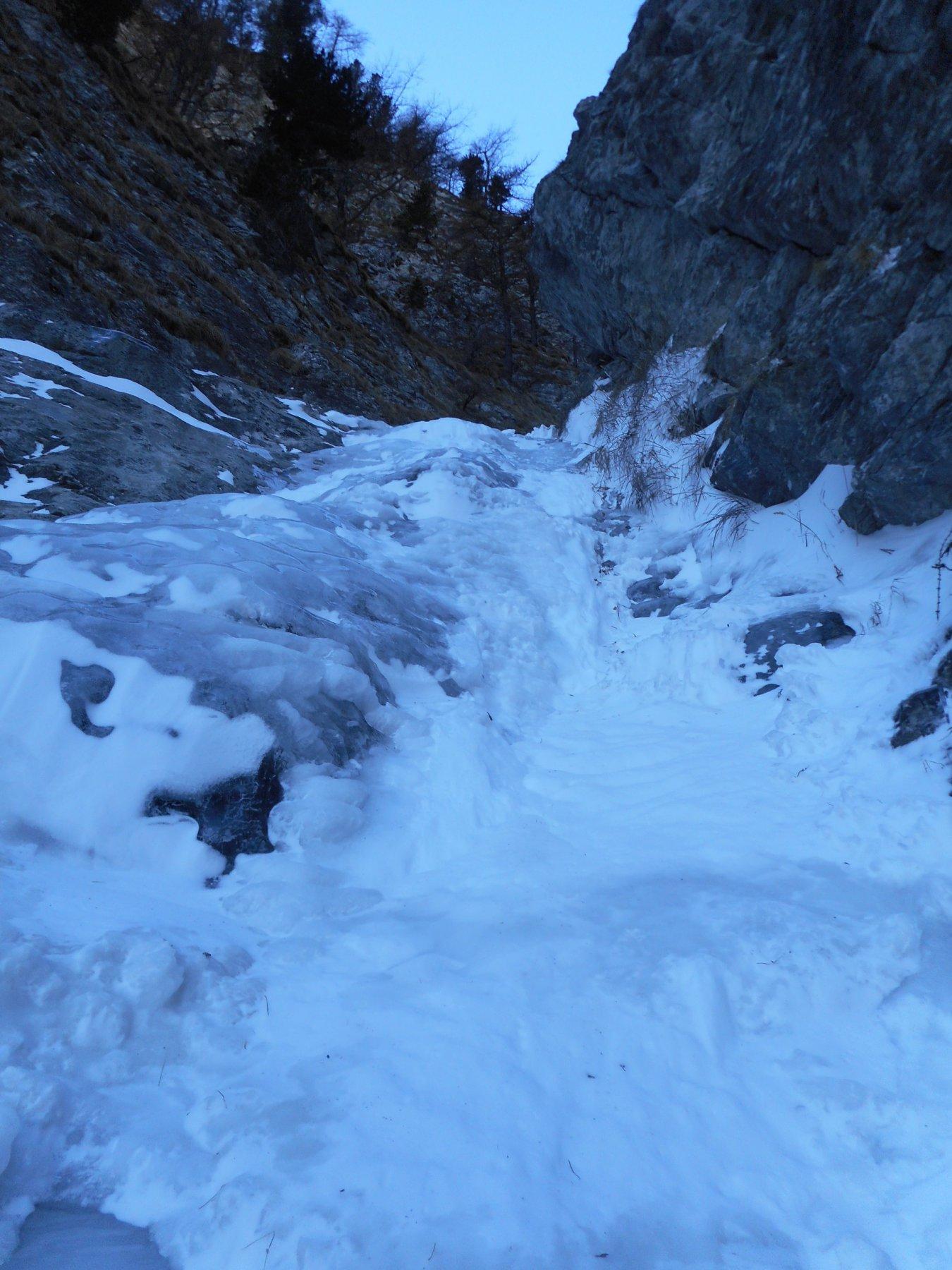 parte centrale tra ghiaccio e neve