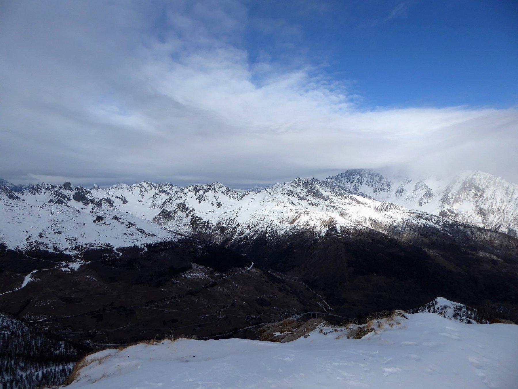 panorama dalla cima, verso la Barasson...