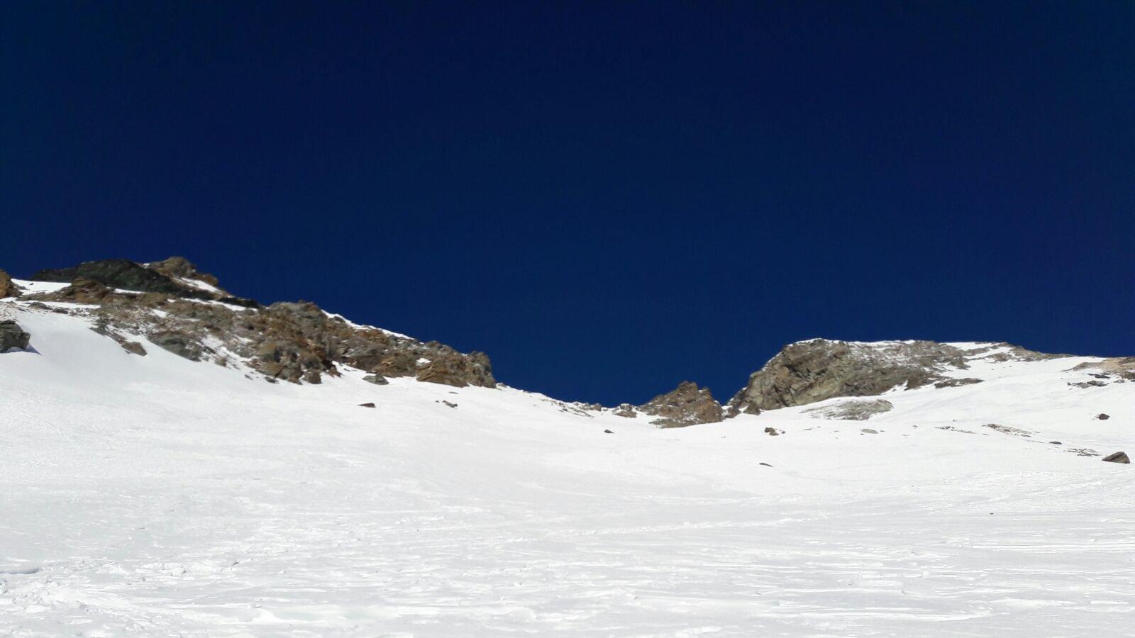 Arrivati con gli sci sotto le rocce finali