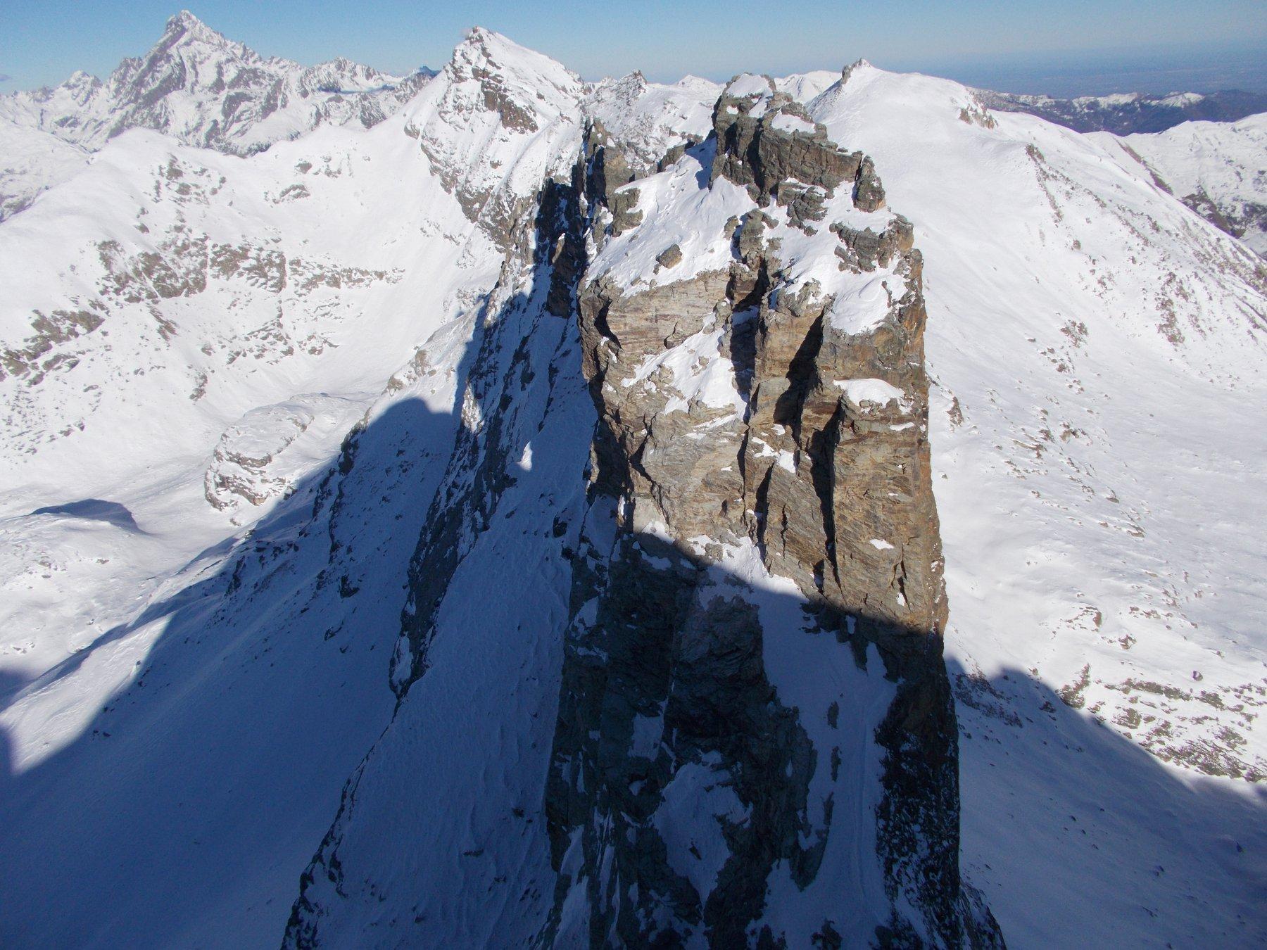 la Rocca Gialeo..dal Pic delle Sagneres..