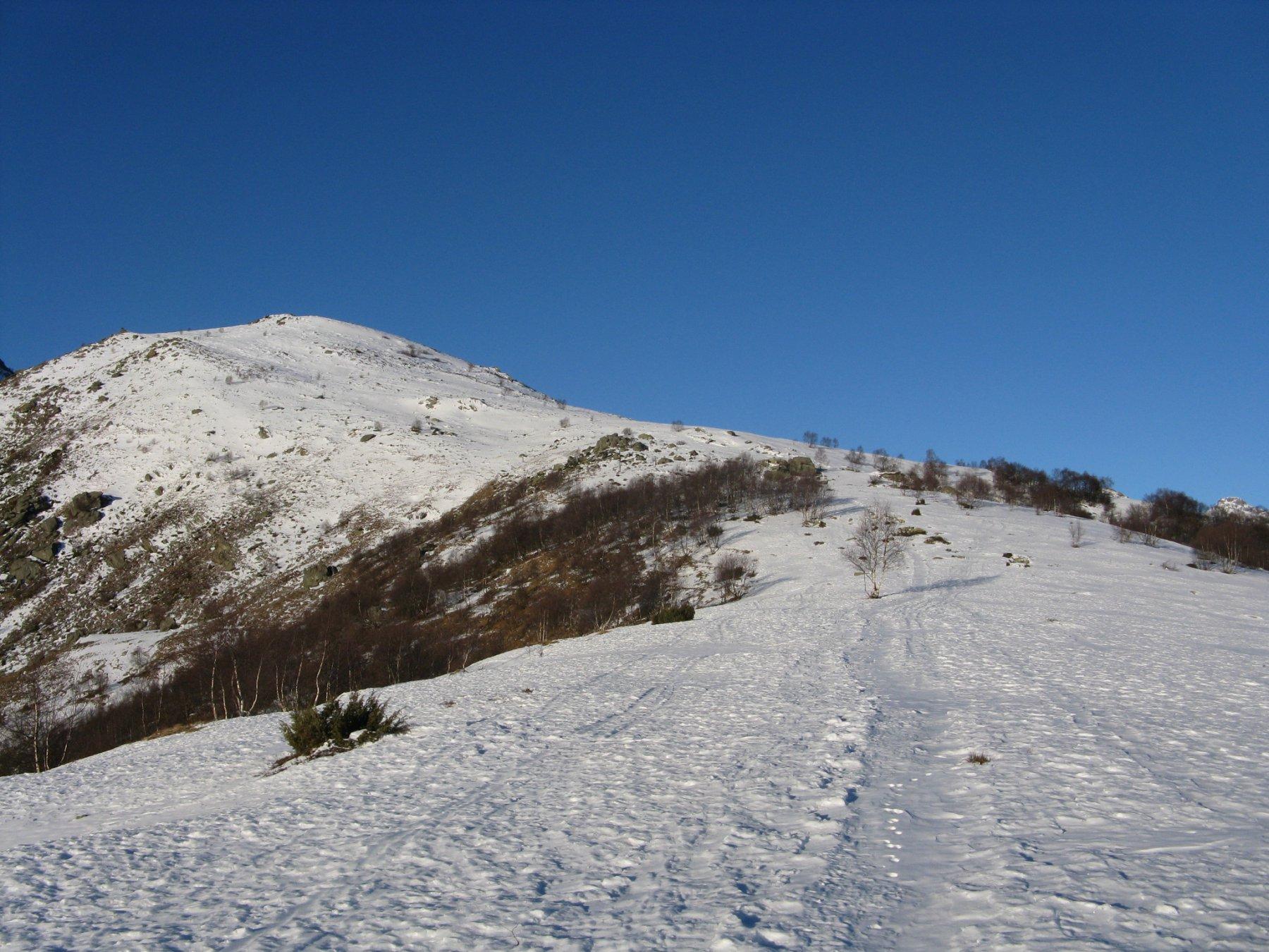 la dorsale finale verso la cima