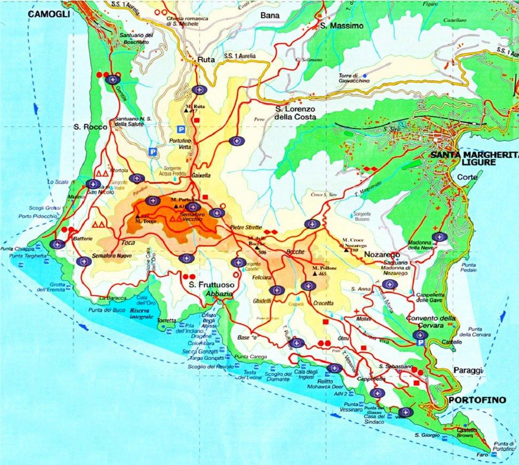 Sentieri e segnavia parco di Portofino