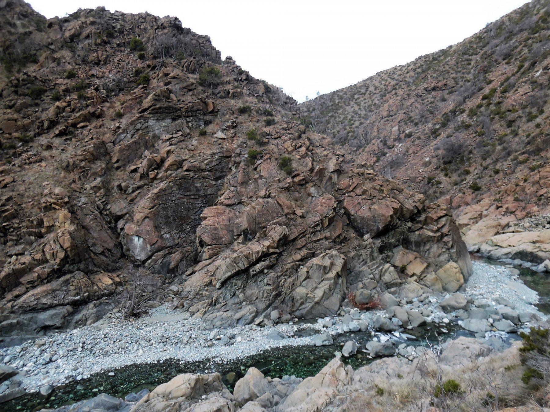 Ansa del Gorzente da cui comincia la cresta nord