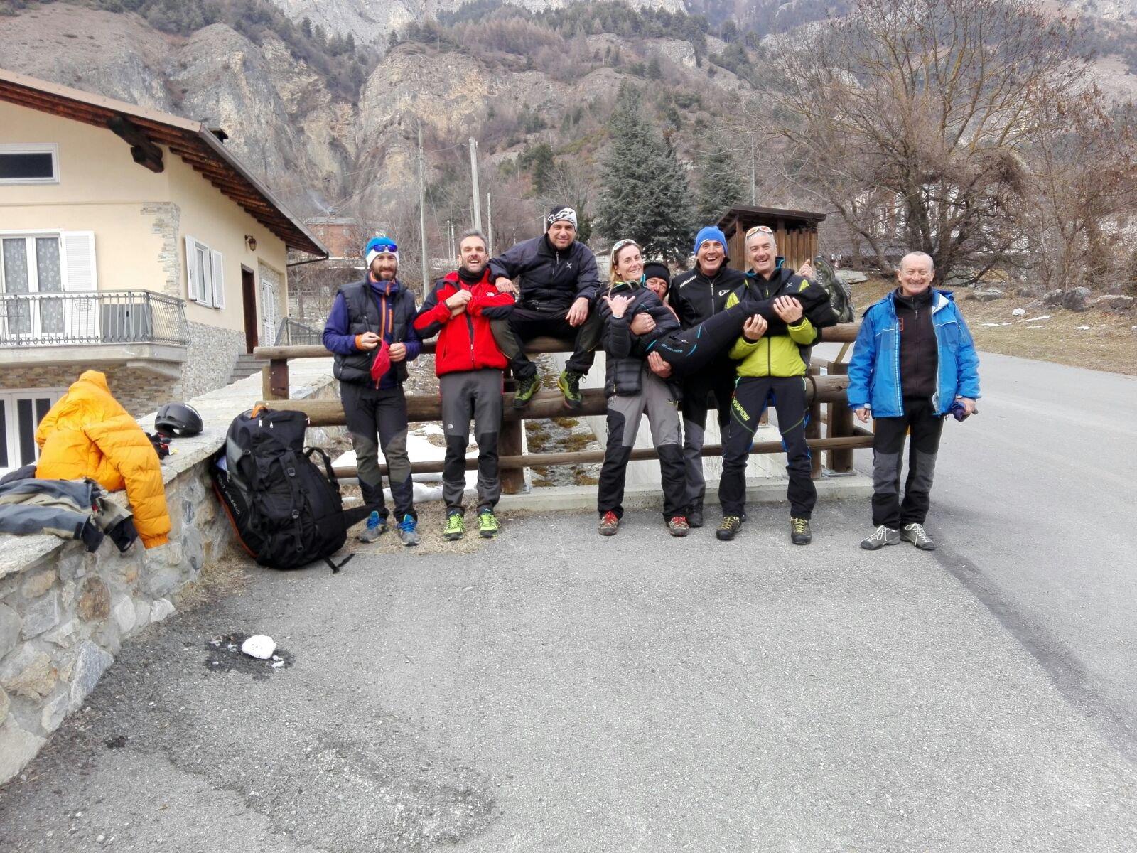 Corso del Cavallo (Monte) Volo su valle Stura 2017-01-20