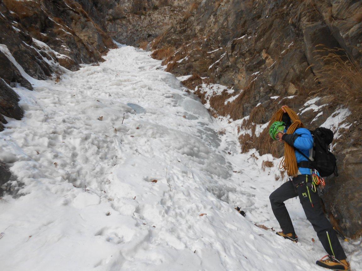 Primi metri di ghiaccio
