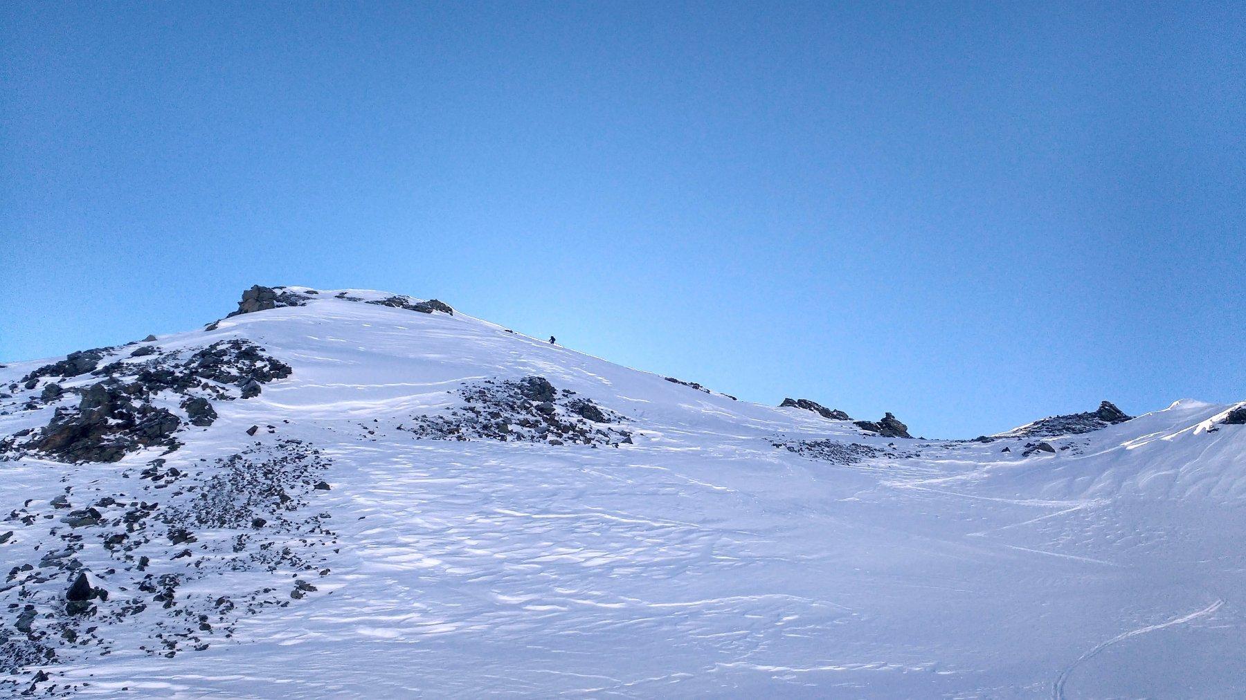 L'ultimo tratto prima della cima.