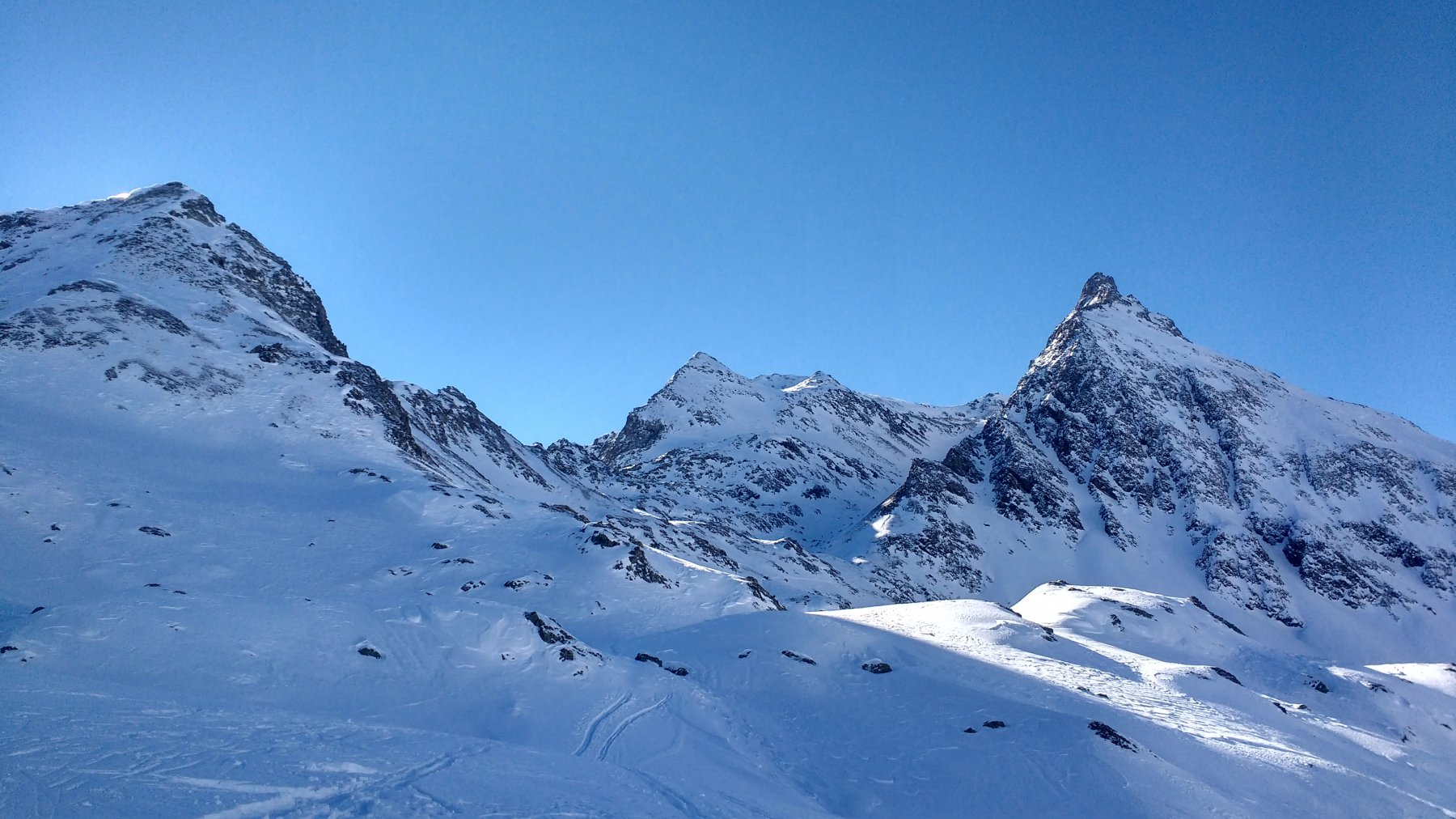 Inizio della parte piu' ghiacciata e con meno neve
