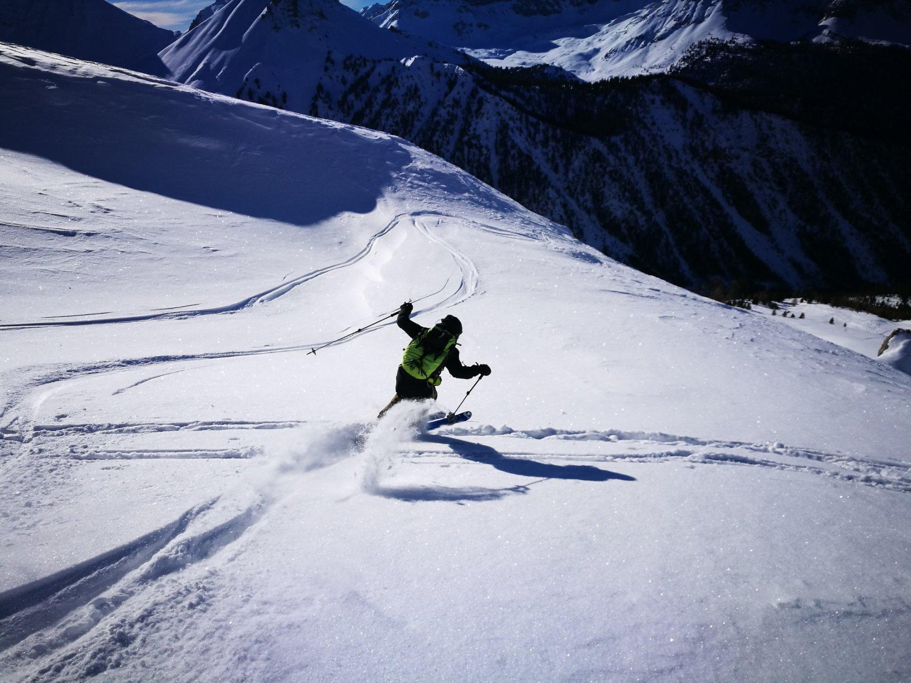 veder sciare Mattia ha il suo perchè