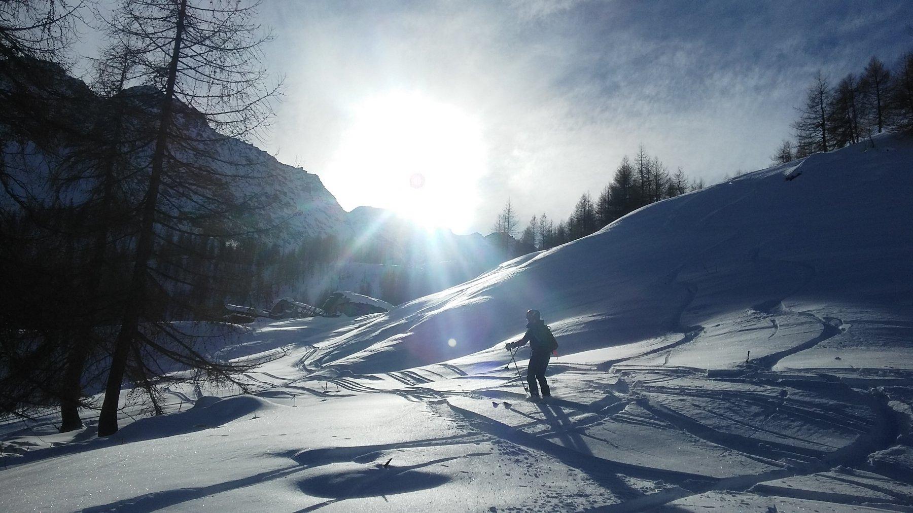 Bella neve anche in basso...