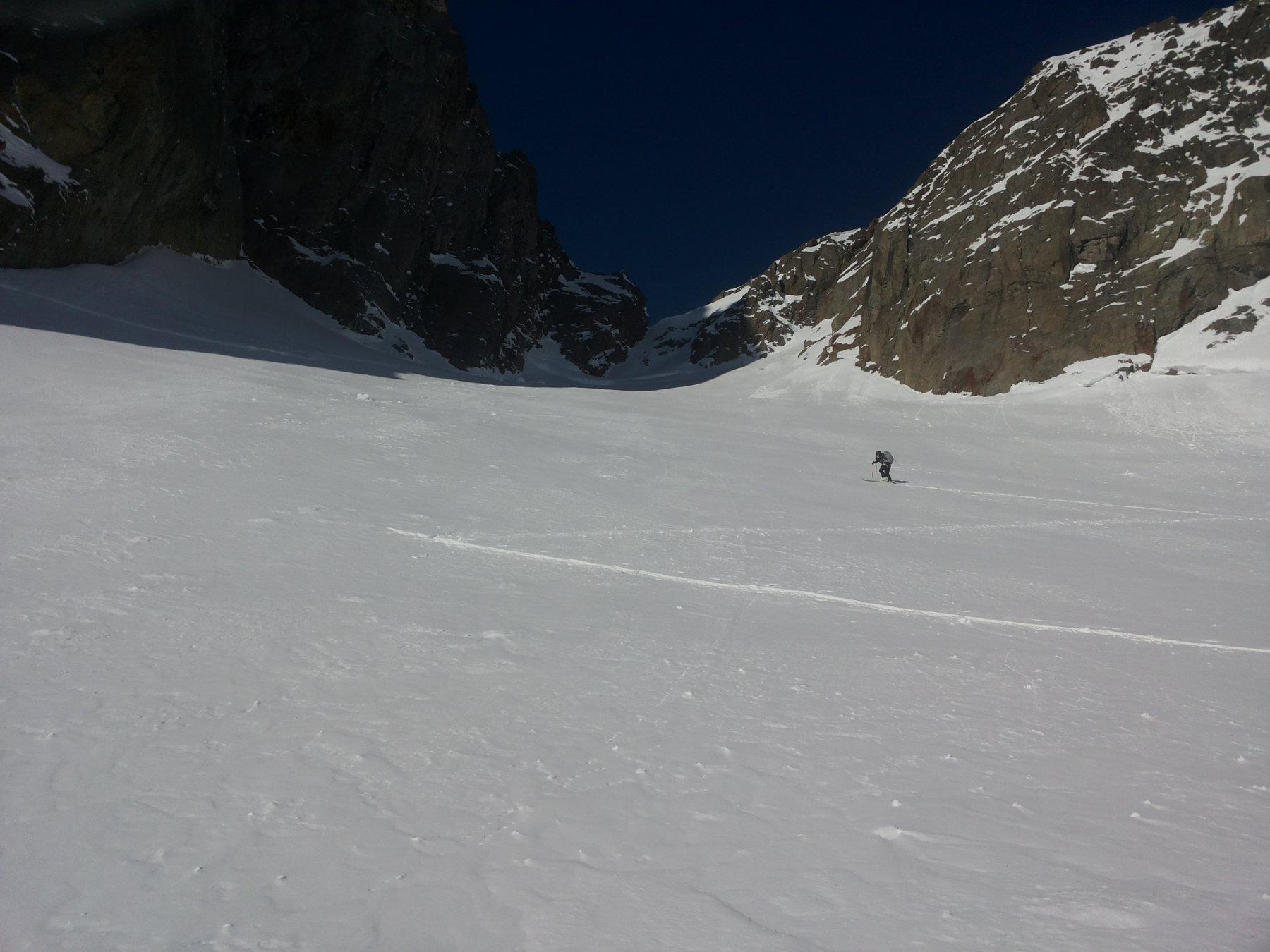 traccia sul ghiacciaio